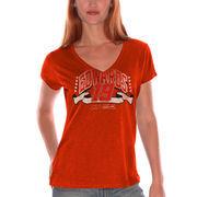 Carl Edwards Women's 4Her Splash Go V-Neck T-Shirt - Orange