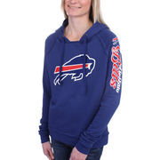 Buffalo Bills 5th and Ocean by New Era Women's Snap Count Pullover Hoodie - Royal Blue