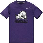 TCU Horned Frogs Nike Youth Legend Performance T-Shirt - Purple