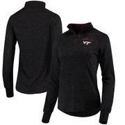 Virginia Tech Hokies Colosseum Women's Bikram 1/4 Zip Long Sleeve Jacket - Black
