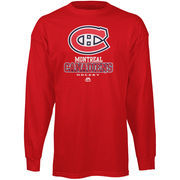 Montreal Canadiens Majestic Big & Tall Critical Victory Long Sleeve T-Shirt - Red