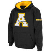 Appalachian State Mountaineers Stadium Athletic Youth Big Logo Pullover Hoodie - Black