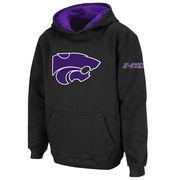 Kansas State Wildcats Stadium Athletic Youth Big Logo Pullover Hoodie - Black