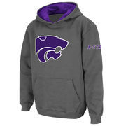Kansas State Wildcats Stadium Athletic Youth Big Logo Pullover Hoodie - Charcoal
