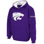 Kansas State Wildcats Stadium Athletic Youth Big Logo Pullover Hoodie - Purple