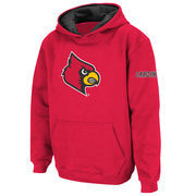 Louisville Cardinals Stadium Athletic Youth Big Logo Pullover Hoodie - Red