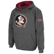 Florida State Seminoles Stadium Athletic Youth Big Logo Pullover Hoodie - Charcoal