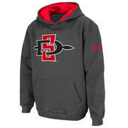 San Diego State Aztecs Stadium Athletic Youth Big Logo Pullover Hoodie - Charcoal