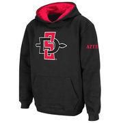 San Diego State Aztecs Stadium Athletic Youth Big Logo Pullover Hoodie - Black