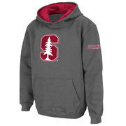 Stanford Cardinal Stadium Athletic Youth Big Logo Pullover Hoodie - Charcoal
