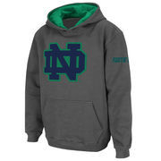 Notre Dame Fighting Irish Stadium Athletic Youth Big Logo Pullover Hoodie - Charcoal