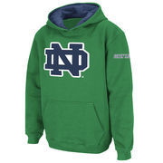Notre Dame Fighting Irish Stadium Athletic Youth Big Logo Pullover Hoodie - Kelly Green
