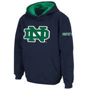 Notre Dame Fighting Irish Stadium Athletic Youth Big Logo Pullover Hoodie - Navy