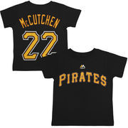 Andrew McCutchen Pittsburgh Pirates Majestic Toddler Player Name and Number T-Shirt - Black