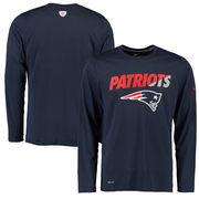 New England Patriots Nike Legend Staff Practice Long Sleeve Performance T-Shirt - Navy