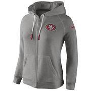 San Francisco 49ers Women's Stadium Rally Full Zip Hoodie - Gray