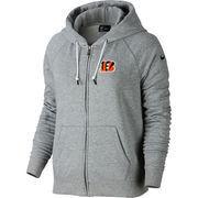 Cincinnati Bengals Nike Women's Stadium Rally Full Zip Hoodie - Gray
