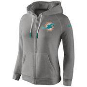 Miami Dolphins Women's Stadium Rally Full Zip Hoodie - Gray