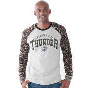 Oklahoma City Thunder G-III Sports by Carl Banks Camo Jersey Raglan Long Sleeve T-Shirt - Heather Gray