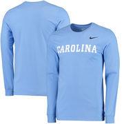 North Carolina Tar Heels Nike Cotton Logo Long Sleeve T-Shirt - Carolina Blue