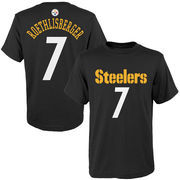 Ben Roethlisberger Pittsburgh Steelers Youth Mainliner Name & Number T-Shirt - Black