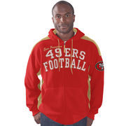 San Francisco 49ers G-III Sports by Carl Banks Snap Shot Polar Fleece Full-Zip Hoodie - Scarlet