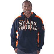 Chicago Bears G-III Sports by Carl Banks Snap Shot Polar Fleece Full-Zip Hoodie - Navy