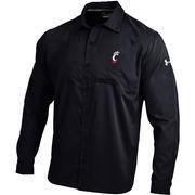 Cincinnati Bearcats Under Armor Sideline Woven Long Sleeve Performance Button-Up Shirt - Black
