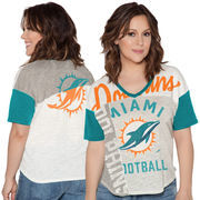 Miami Dolphins Touch by Alyssa Milano Women's Touch Power Play T-Shirt - White