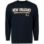 New Orleans Pelicans adidas Cut and Paste Long Sleeve T-Shirt - Navy