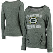 Green Bay Packers Women's Better In Double Face Long Sleeve Boatneck T-Shirt - Green