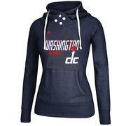 Washington Wizards adidas Women's Distressed Back Logo Hoodie - Navy
