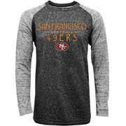 San Francisco 49ers Majestic Conquest Double Face Slub Long Sleeve Thermal T-Shirt - Black