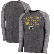 Green Bay Packers Majestic Conquest Double Face Slub Long Sleeve Thermal T-Shirt - Black