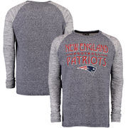 New England Patriots Majestic Conquest Double Face Slub Long Sleeve Thermal T-Shirt - Navy