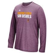 Arizona State Sun Devils adidas Sideline Shock Energy Aeroknit Long Sleeve T-Shirt - Maroon
