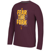 Arizona State Sun Devils adidas Sideline Glory Ultimate Long Sleeve T-Shirt - Maroon