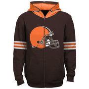 Cleveland Browns Youth Helmet Full-Zip Hoodie - Brown