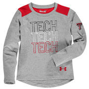 Texas Tech Red Raiders Under Armour Girls Toddler Nu Performance Long Sleeve T-Shirt - Gray