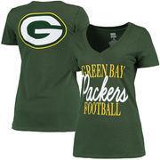 Green Bay Packers Women's Victory Play 2-Hit V-Neck T-Shirt - Green