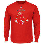 Boston Red Sox Majestic Big & Tall Critical Victory Long Sleeve T-Shirt - Red
