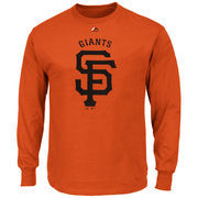 San Francisco Giants Majestic Big & Tall Critical Victory Long Sleeve T-Shirt - Orange