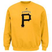 Pittsburgh Pirates Majestic Big & Tall Critical Victory Fleece Crew Sweatshirt - Gold