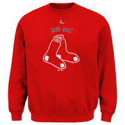 Boston Red Sox Majestic Big & Tall Critical Victory Fleece Crew Sweatshirt - Red