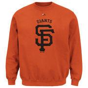 San Francisco Giants Majestic Big & Tall Critical Victory Fleece Crew Sweatshirt - Orange