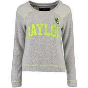 Baylor Bears Women's Moonlight French Terry Crewneck Sweatshirt - Heather Gray