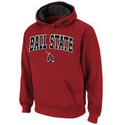 Ball State Cardinals Stadium Athletic Arch & Logo Pullover Hoodie - Cardinal
