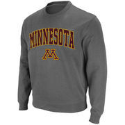 Minnesota Golden Gophers Stadium Athletic Arch & Logo Crew Pullover Sweatshirt - Charcoal