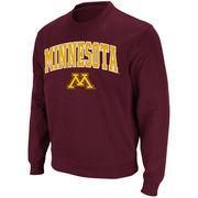 Minnesota Golden Gophers Stadium Athletic Arch & Logo Crew Pullover Sweatshirt - Maroon