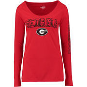 Georgia Bulldogs Alta Gracia (Fair Trade) Women's Isabel Relaxed Fit Long Sleeve T-Shirt - Red